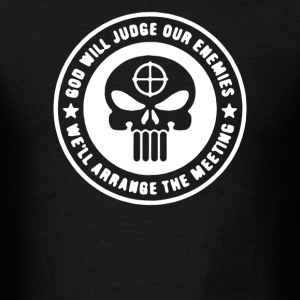 Punisher God Will Judge Funny Military Army  - Men's T-Shirt