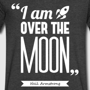 Armstrong's moon | V-neck shirt quote ♂ - Men's V-Neck T-Shirt by Canvas