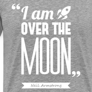 Armstrong's moon | T-shirt quote ♂ - Men's Premium T-Shirt