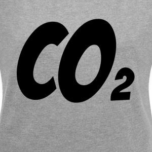 CARBON DIOXIDE CO2 CHEMICAL ELEMENT T-Shirts - Women´s Rolled Sleeve Boxy T-Shirt