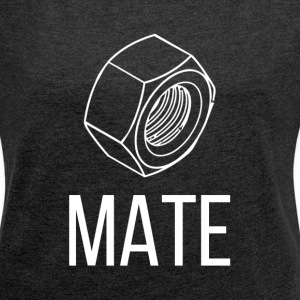 NUT AND BOLT SOUL MATE MAN WOMAN COUPLE T-Shirts - Women´s Rolled Sleeve Boxy T-Shirt