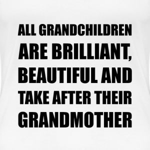 Grandchildren Brilliant Grandmother - Women's Premium T-Shirt