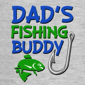 Dad's Fishing Buddy funny baby boy shirt  - Baby Contrast One Piece