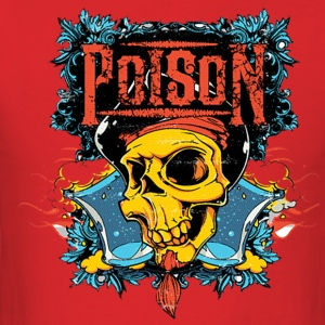 Poison Skull - Men's T-Shirt