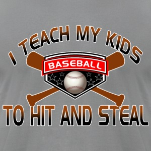 Funny Baseball Shirt for Dad - Men's T-Shirt by American Apparel
