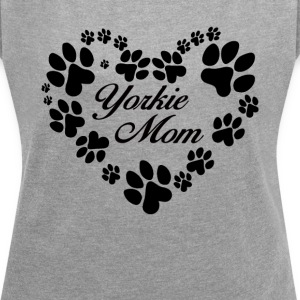 Yorkie Mom - Women´s Rolled Sleeve Boxy T-Shirt
