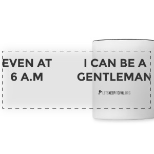6 AM Gentleman - MUG - Panoramic Mug