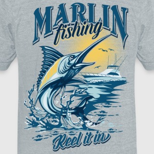 MARLIN T-Shirts - Unisex Tri-Blend T-Shirt by American Apparel
