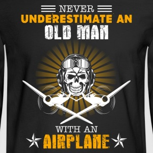 Old Man With An Airplane - Men's Long Sleeve T-Shirt