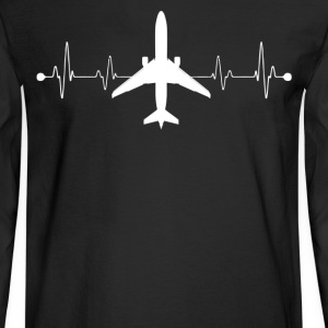 Pilot Heartbeat Shirts - Men's Long Sleeve T-Shirt