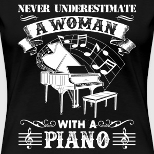 Woman With A Piano Shirt - Women's Premium T-Shirt