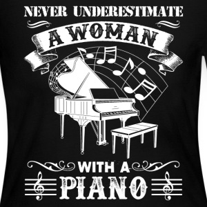Woman With A Piano Shirt - Women's Long Sleeve Jersey T-Shirt
