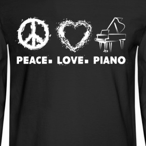 Peace Love Piano Shirt - Men's Long Sleeve T-Shirt