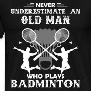Old Man Play Badminton - Men's Premium T-Shirt