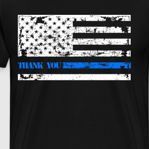 Thin Blue Line Thank You - Men's Premium T-Shirt