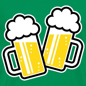 2 Clinking Beer Glasses For A Cheer! (3C) T-Shirts - Men's Premium T-Shirt
