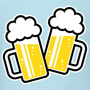 2 Clinking Beer Glasses For A Cheer! (3C) T-Shirts - Men's T-Shirt
