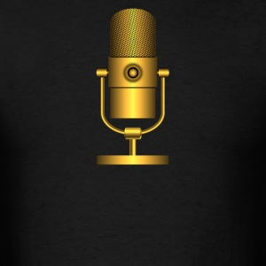 Golden Microphones - Men's T-Shirt