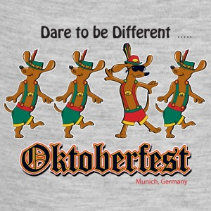 Oktoberfest Dancing Dachshunds - Baby Contrast One Piece