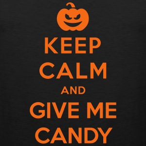 Keep Calm Give Me Candy - Funny Halloween Sportswear - Men's Premium Tank