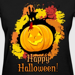 Orange Jack-O-Lantern Halloween T-Shirts - Women's T-Shirt