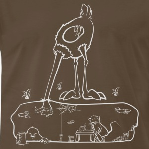 The Ostrich - Men's Premium T-Shirt