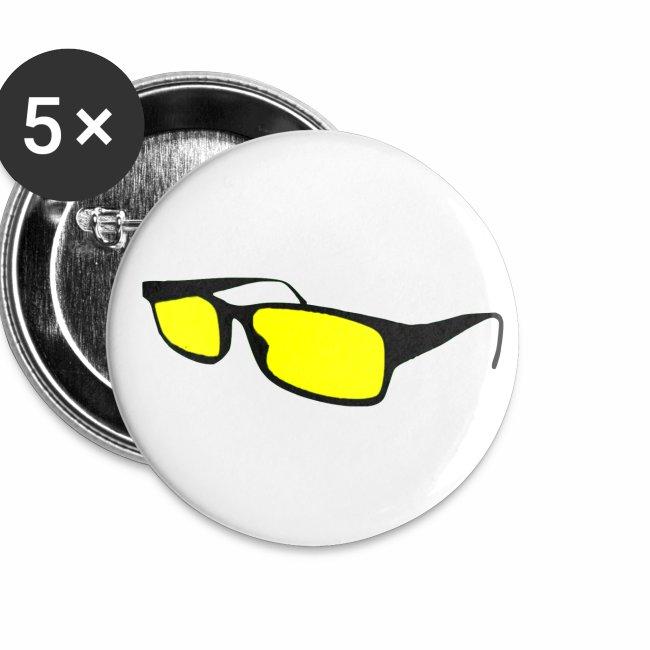 Yellow Glasses Pins