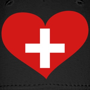 Switzerland Heart; Love Switzerland Sportswear - Baseball Cap