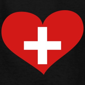Switzerland Heart; Love Switzerland Kids' Shirts - Kids' T-Shirt