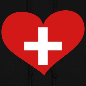 Switzerland Heart; Love Switzerland Hoodies - Women's Hoodie