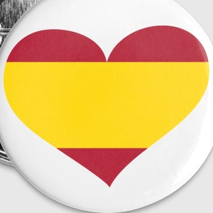 Spain Heart; Love Spain Buttons - Small Buttons