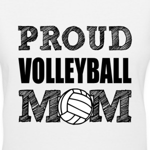 Proud Volleyball Mom women's shirt - Women's V-Neck T-Shirt