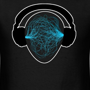 Blue Music waves  - Men's T-Shirt