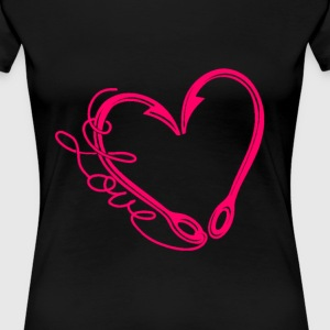 Fishing lover - My heart is made of fishing hook - Women's Premium T-Shirt
