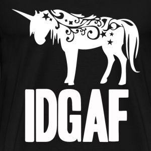 Idgaf, I don't give a fuck - Unicorn T - shirt - Men's Premium T-Shirt