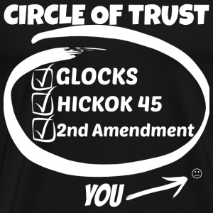 Gun owner - Glocks, Hickok 45, 2nd Amendment - Men's Premium T-Shirt