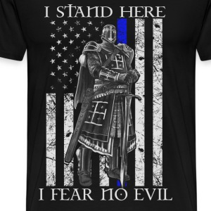 Crusader - I stand here fearing no evil flag tee - Men's Premium T-Shirt
