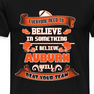 Auburn - I believe auburn will beat your team tee - Men's Premium T-Shirt