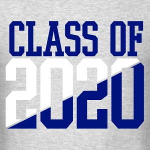 CLASS OF 2020 WHITE AND BLUE T-Shirts - Men's T-Shirt