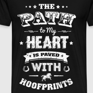 Hoof prints - The path to my heart is paved - Men's Premium T-Shirt