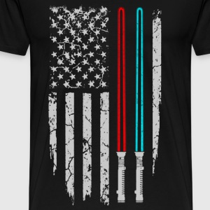 Star war - Star war flag t-shirt for american fa - Men's Premium T-Shirt