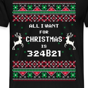 324B21 - All I want for christmas is 324B21 Tshirt - Men's Premium T-Shirt
