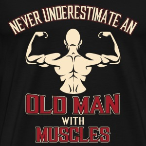 Bodybuilding Old man with muscles - Men's Premium T-Shirt