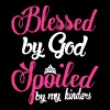 Blessed by god spoiled by my kinder tee - Women's Premium T-Shirt