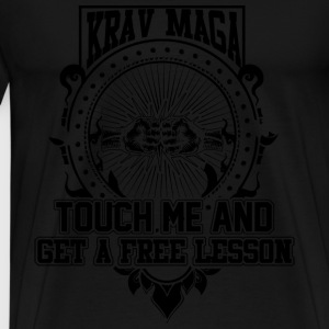 Krav maga - Touch me and get a free lesson tee - Men's Premium T-Shirt