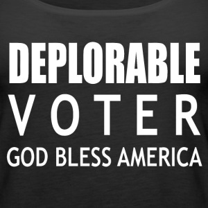 Deplorable voter god blees america - Women's Premium Tank Top
