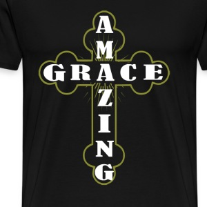 Amazing grace - Cross T - shirt - Men's Premium T-Shirt
