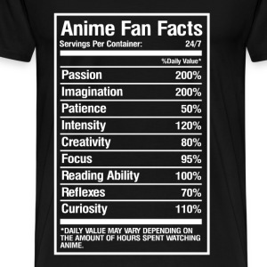Anime fan facts - Daily value may vary - Men's Premium T-Shirt