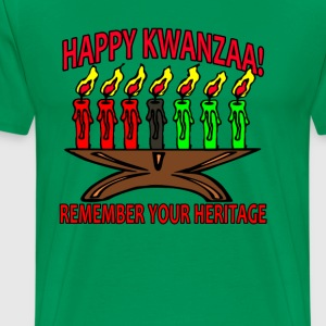 happy_kwanzaa_remember_your_heritage_ - Men's Premium T-Shirt