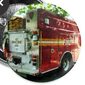 Back Of Fire Truck Buttons - Large Buttons